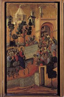Duccio, Einzug in Jerusalem by AKG  Images