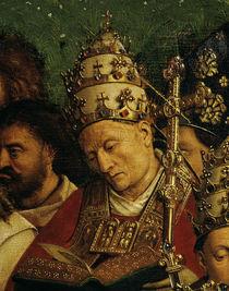 Jan v.Eyck, Genter Altar: Papst (Detail) von AKG  Images