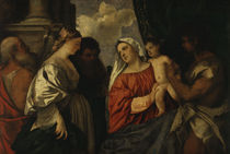 Tizian, Maria mit Kind und vier Heiligen von AKG  Images