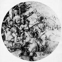 A.Duerer, Tafelnde Gesellschaft und Tod von AKG  Images