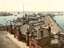 Southampton, Pier im Hafen / Photochrom by AKG  Images