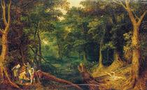 J.Brueghel d.Ae., Ueberfall im Wald von AKG  Images