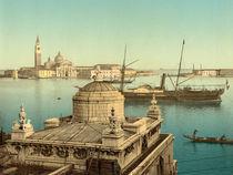 Venedig, Schiffe im Hafen / Photochrom von AKG  Images