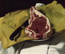 F.Vallotton, Stilleben: Ein Entrecote.. by AKG  Images