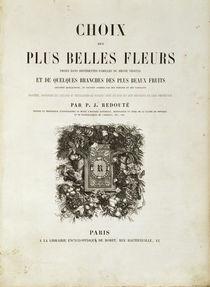 P.J.Redoute,  Choix des (..) fleurs von AKG  Images