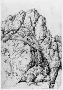 A.Duerer, Bergwand mit Schlucht von AKG  Images