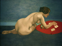 F.Vallotton, Akt mit Patience Karten by AKG  Images