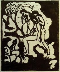 A.Macke, Begruessung, Linolschnitt, 1912 by AKG  Images