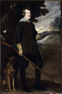 Philipp IV. als Jaeger / Gem.v.Velazquez von AKG  Images