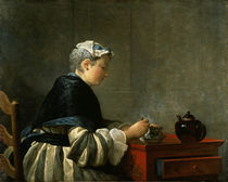 Chardin, Teetrinkende Dame by AKG  Images