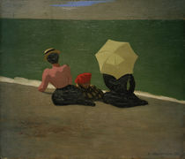 F.Vallotton, Am Strand by AKG  Images