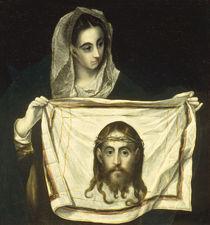 El Greco, Hl.Veronika mit Schweisstuch von AKG  Images