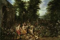 Jan Bruegel d.Ae., Flora im Blumengarten by AKG  Images