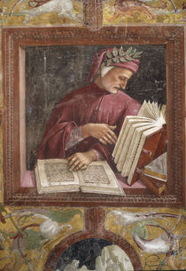 Dante / Fresko von Signorelli um 1500 by AKG  Images