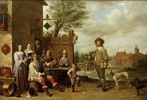 D.Teniers, Lanschaft mit Familie von AKG  Images