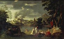 Poussin, Landschaft mit Orpheus von AKG  Images