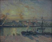 Camille Pissarro, Hafen von Rouen... von AKG  Images