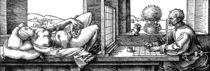 Duerer, Der Zeichner des liegenden Weibes by AKG  Images