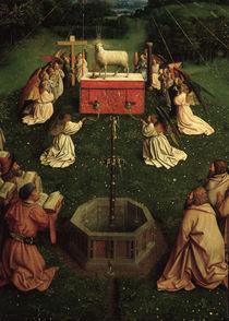 Agnus Dei /Jan v.Eyck, Genter Altar 1432 von AKG  Images