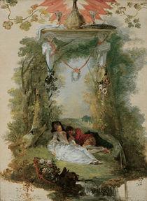 Watteau, Das schlafende Liebespaar by AKG  Images