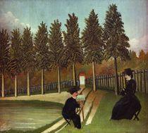 H.Rousseau, Der Maler und seine Frau by AKG  Images