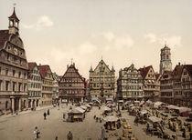 Stuttgart, Marktplatz um 1895 von AKG  Images