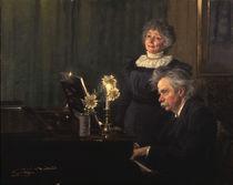 Edvard Grieg und Frau / Gem.v.Kroeyer von AKG  Images
