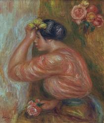 A.Renoir, Maedchen mit Rosen vor Spiegel by AKG  Images