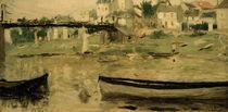 B.Morisot, Boote auf der Seine by AKG  Images