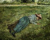C.Pissarro, Liegendes Maedchen.. von AKG  Images