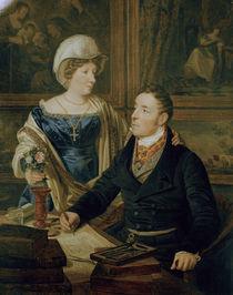 F.G.Waldmueller, Karthograph mit Frau by AKG  Images