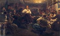 Repin/ Gemuetlicher Dorfabend/ 1881 by AKG  Images