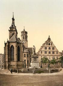Stuttgart, Stiftskirche / Photochrom von AKG  Images