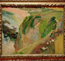 P.Gauguin, Floetenspieler auf d. Klippen by AKG  Images