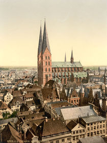 Luebeck, Marienkirche / Photochrom by AKG  Images