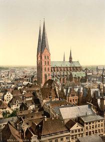 Luebeck, Marienkirche / Photochrom von AKG  Images