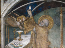 Simone Martini, Hl.Martin bei Messe by AKG  Images