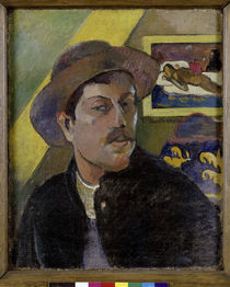 P.Gauguin, Selbstbildnis mit Manao Tupa. by AKG  Images