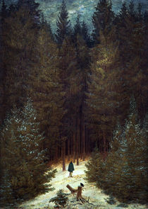 C.D.Friedrich, Chasseur im Walde by AKG  Images