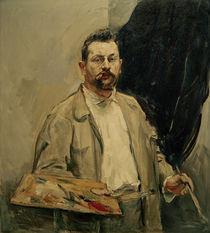Max Slevogt, Selbstbildnis mit Palette von AKG  Images
