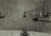 G.Seurat, Hafeneinfahrt Honfleur by AKG  Images