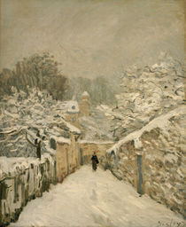 A.Sisley, Schnee in Louveciennes von AKG  Images