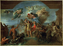 Ludwig XIV. .. geruestet / Gem.v.Le Brun by AKG  Images