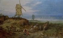 J.Brueghel d.Ae., Landschaft mit Muehlen von AKG  Images
