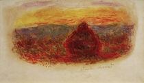 C.Monet, Heuhaufen bei Sonnenuntergang by AKG  Images