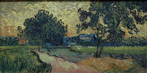 V.v.Gogh, Zwei Birnbaeume u.das Schloss... by AKG  Images