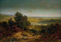 C.Spitzweg, Landschaft mit Dorf u.Fluss by AKG  Images