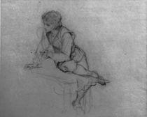 L.Knaus, Studie eines sitzenden Jungen von AKG  Images