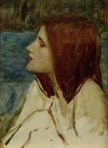 J.W.Waterhouse, Head of a Girl von AKG  Images