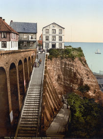 Helgoland, Grosse Treppe  / Photochrom by AKG  Images
